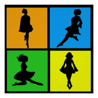 iDance Irish Dancer Silhouettes Poster
