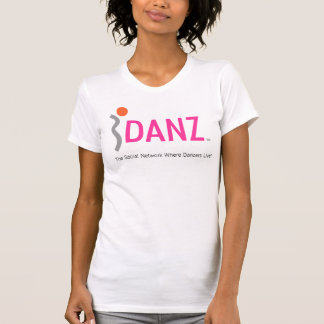 iDANZ Logo White Camisole Fitted T-Shirt