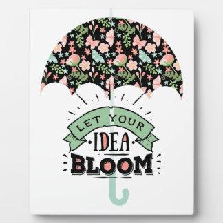 Idea Bloom Umbrella Plaque