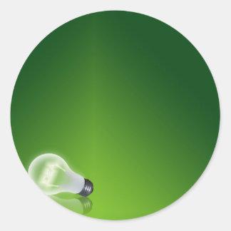 idea Bulb Classic Round Sticker