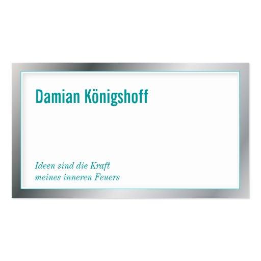 Idea giver visiting card