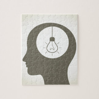 Idea in a head jigsaw puzzle