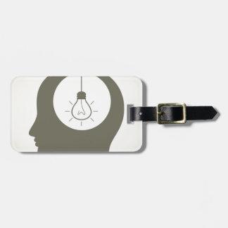 Idea in a head luggage tag