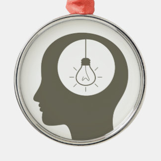 Idea in a head metal ornament