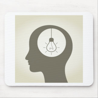 Idea in a head mouse pad
