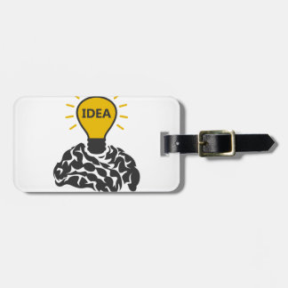 Idea of a brain luggage tag
