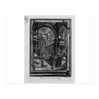 Idea of real-Hall by Giovanni Battista Piranesi Postcard