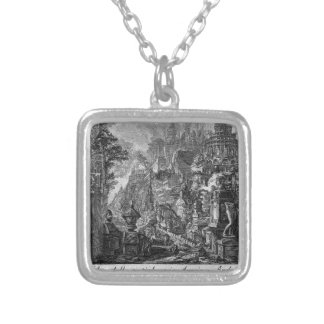 Idea of the ancient Via Appia and Ardeatina Silver Plated Necklace
