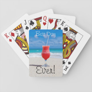 Ideal Beach Vacation Playing Cards