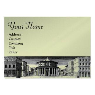IDEAL CITY,bright  platinum metallic paper,silver Business Card