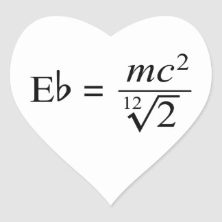 Ideal for the Music and Science geek! Heart Sticker