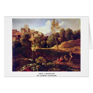 Ideal Landscape By Dughet Gaspard Card