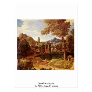 Ideal Landscape By Millet (I) Jean-Francois Postcard