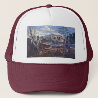 Ideal Landscape By Poussin Nicolas (Best Quality) Trucker Hat