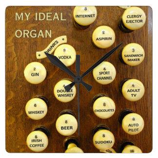 Ideal organ wall clocks