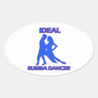ideal samba dance designs oval sticker