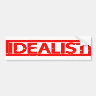 Idealist Stamp Bumper Sticker