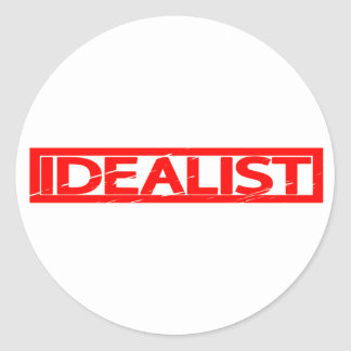 Idealist Stamp Classic Round Sticker