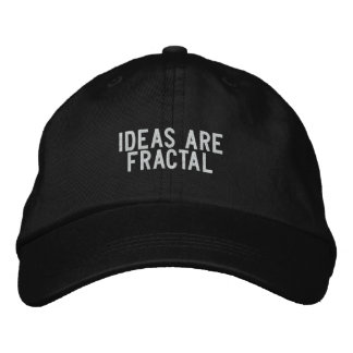 ideas are fractal embroidered hat