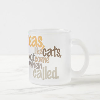 ideas are like cats frosted glass mug