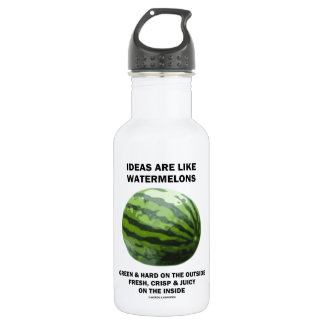 Ideas Are Like Watermelons (Food For Thought) 532 Ml Water Bottle