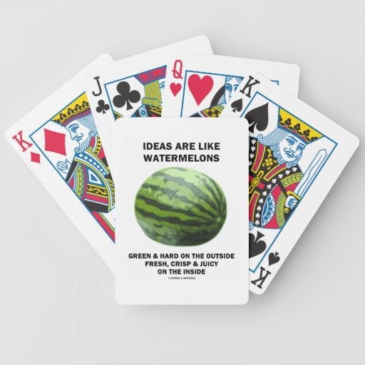 Ideas Are Like Watermelons (Food For Thought) Playing Cards