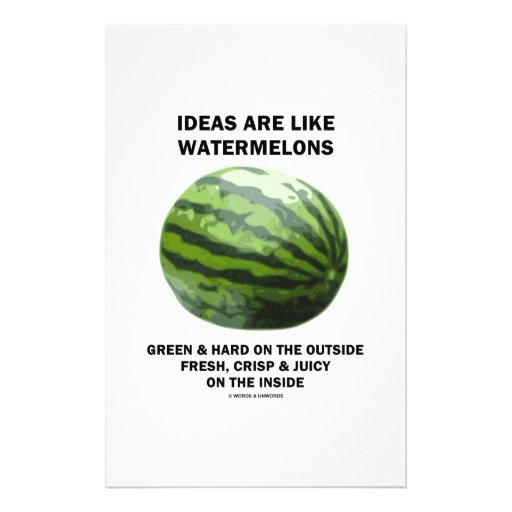 Ideas Are Like Watermelons (Food For Thought) Customized Stationery