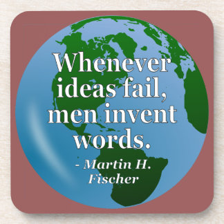 Ideas fail words Quote. Globe Coaster
