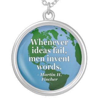 Ideas fail words Quote. Globe Pendants