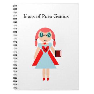 Ideas of Pure Genius super nerd notebook