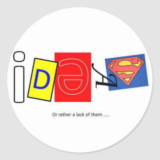 Ideas. Round Sticker