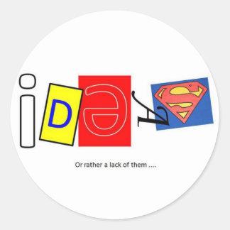 Ideas. Round Sticker