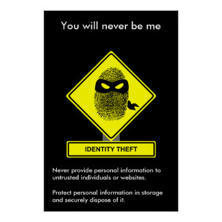 Identity Theft Security Awareness Poster