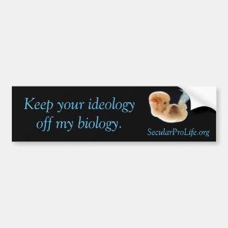 Ideology v Biology Bumper Sticker
