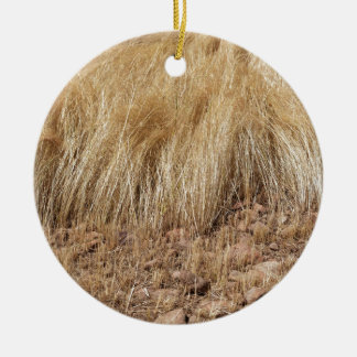 iDetail of a teff field during harvest Ceramic Ornament