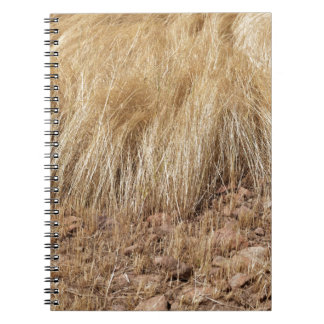 iDetail of a teff field during harvest Spiral Notebook