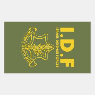 IDF Israel Defense Forces - ENG Rectangular Sticker