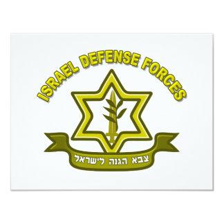 IDF - Israel Defense Forces insignia 11 Cm X 14 Cm Invitation Card