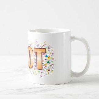Idiot Bubble Tag Basic White Mug
