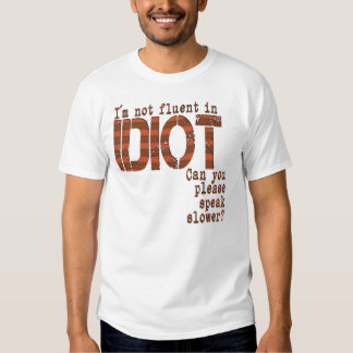Idiot - EDUN LIVE Genesis Unisex Standard Crew Tee Shirt