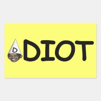 Idiot Obama Rectangular Stickers