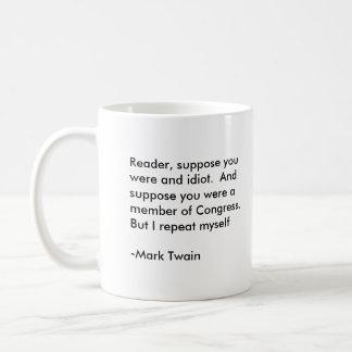 Idiot risk basic white mug