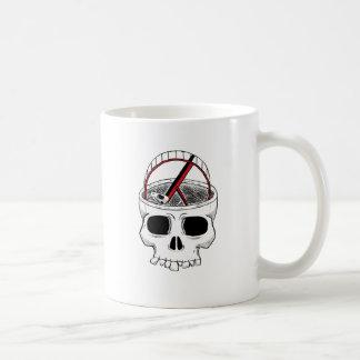 Idiot skull coffee mugs