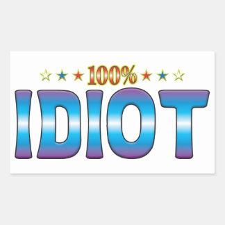 Idiot Star Tag v2 Rectangular Sticker