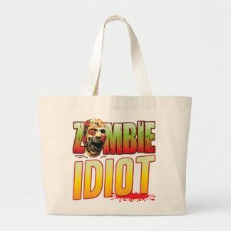 Idiot Zombie Head Canvas Bags