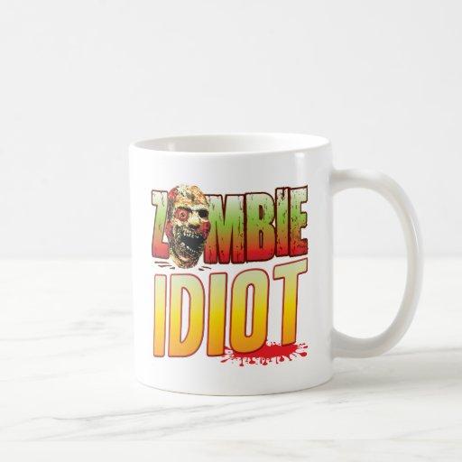 Idiot Zombie Head Mugs
