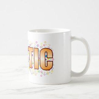 Idiotic Bubble Tag Basic White Mug