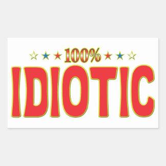 Idiotic Star Tag Rectangular Sticker