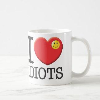 Idiots Basic White Mug