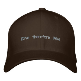 iDive therefore iAM Embroidered Hat